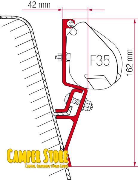 Soporte Para Toldo F35pro Para Anclarlo A Vw T3 Camperstore