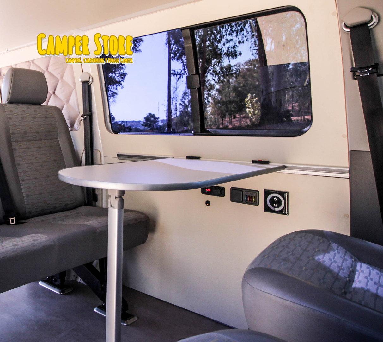 Soporte para mesa extra ble para la zona sal n camperstore for Mesas extraibles salon