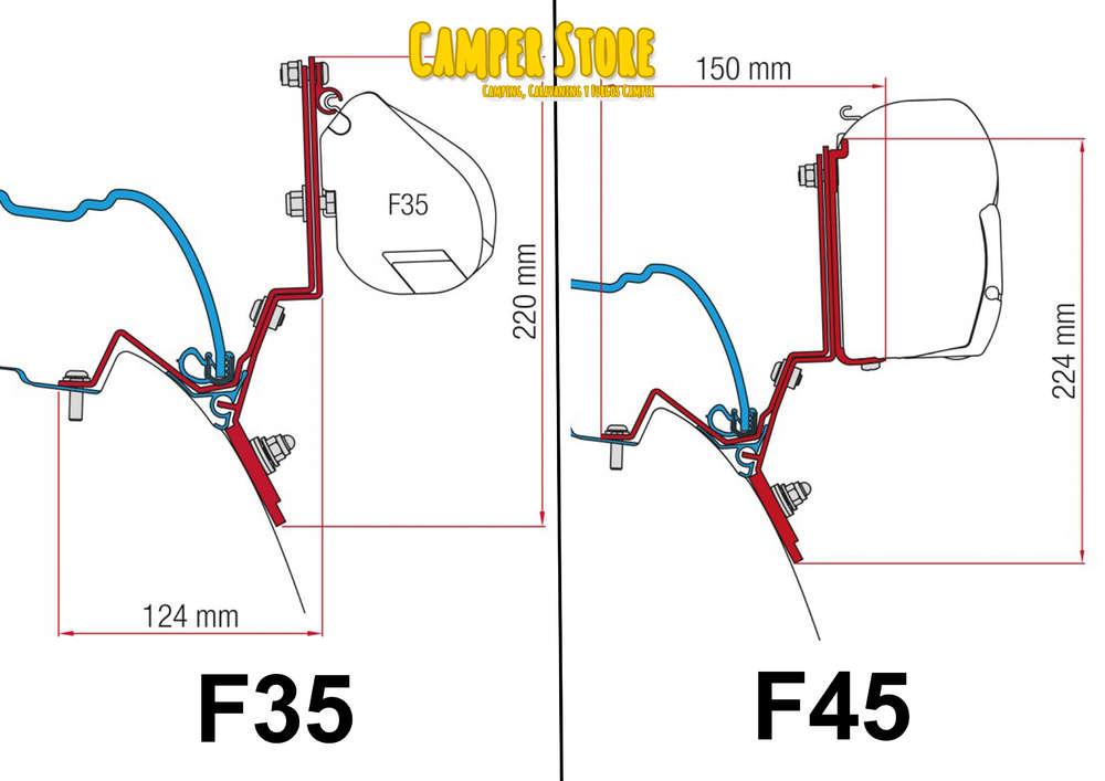 Soporte F35 y F45 V Class Marco Polo desde 2014 - CamperStore